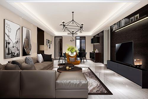 九号公馆室内客厅设计